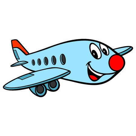 Airplane Cartoon - A vector cartoon illustration of a fun Airplane character.