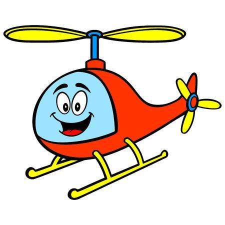 Helicopter Mascot - A vector cartoon illustration of a fun Helicopter mascot. Archivio Fotografico - 118556955
