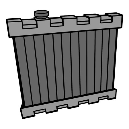 Radiator - A vector cartoon illustration of a motor radiator.