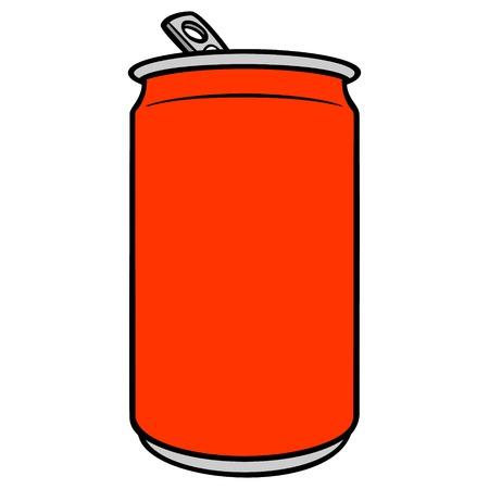 Soda Can Cartoon - A vector cartoon illustration of a can of Soda.