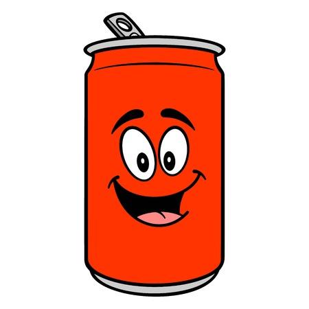 Soda Can Mascot - A vector cartoon illustration of a Soda can mascot. Ilustracja