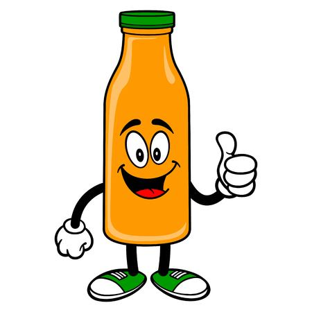 Orange Juice Mascot with Thumbs Up - A vector cartoon illustration of a Orange Juice Mascot holding a Thumbs Up. 일러스트
