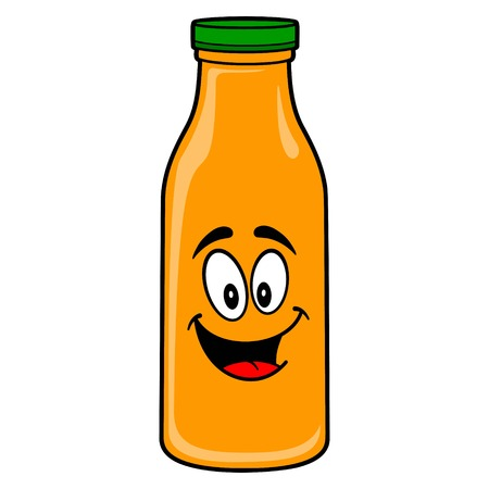 Orange Juice Mascot - A vector cartoon illustration of a Orange Juice Mascot.