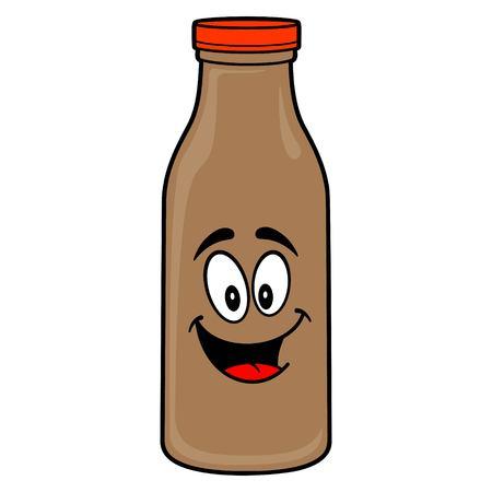 Chocolate Milk Mascot - A vector cartoon illustration of a Chocolate Milk Mascot.