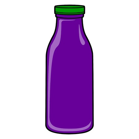 Grape Juice Bottle - A vector cartoon illustration of a Grape Juice bottle.