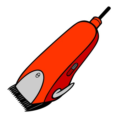 Electrical Hair Clipper - A vector cartoon illustration of a pair of Barber electrical hair clippers.