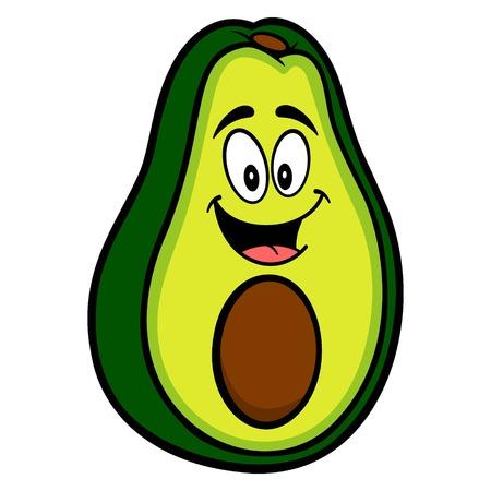 Avocado Mascot - A cartoon illustration of a cute Avocado mascot.