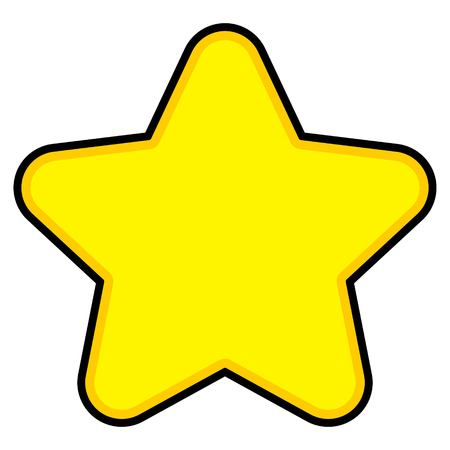 Star Cartoon - A cartoon illustration of a cute Star shape.