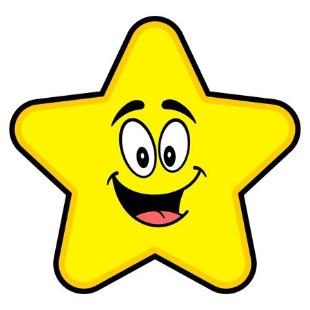 Star Mascot - A cartoon illustration of a cute Star mascot.