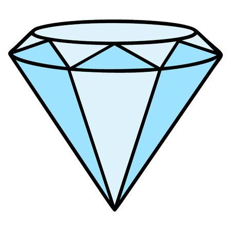 Diamond Icon - A cartoon illustration of a Diamond Icon. Иллюстрация