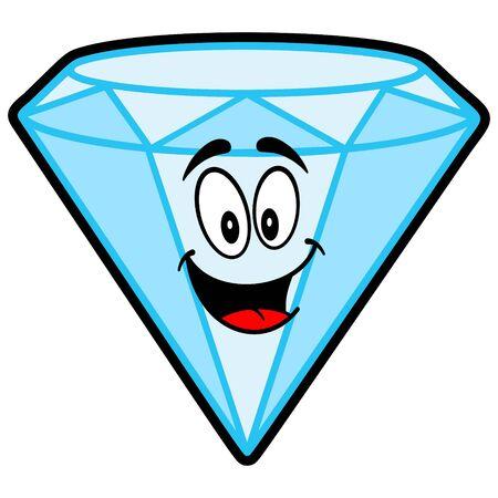 Diamond Mascot - A cartoon illustration of a Diamond Mascot. Illusztráció