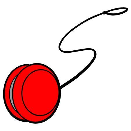 Yoyo Toy - A cartoon illustration of a kids toy Yoyo.