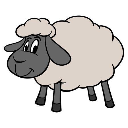 Sheep Mascot - A cartoon illustration of a cute Sheep Mascot. Illusztráció