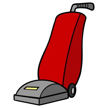 Vacuum Cleaner - A cartoon illustration of a Vacuum Cleaner.
