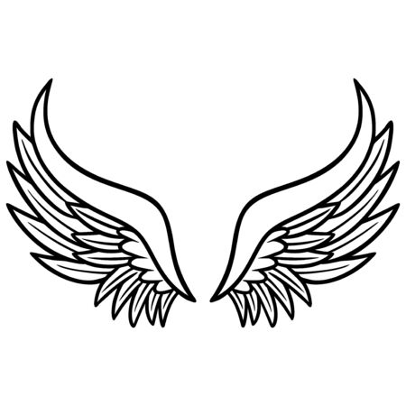 Angel Wings - A cartoon illustration of a pair of Angel Wings.