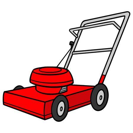 Tondeuse à gazon - Une illustration de dessin animé d'une tondeuse à gazon d'arrière-cour.