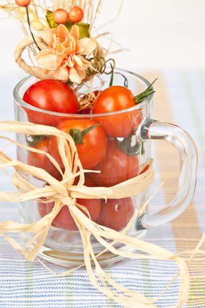 Tomato with decor photo