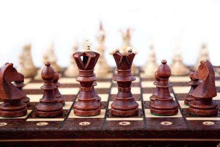 gamesmanship: Ajedrez en el inicio del  Foto de archivo