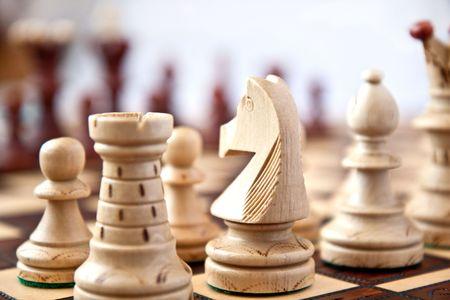 Schach auf start  Standard-Bild