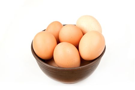 eggs in a ceramic bowl photo