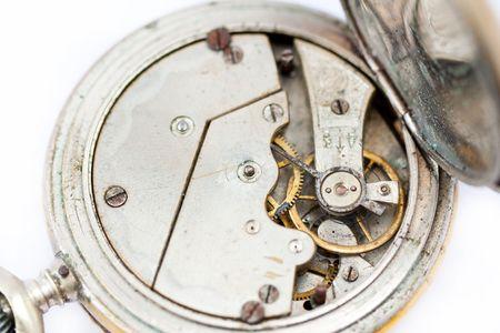 Mechanism of old clock photo