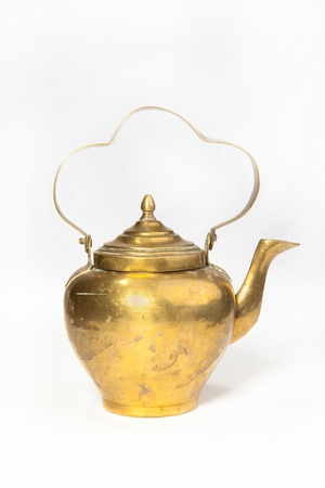teakettle: Old teapot isolated on the white background
