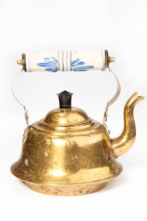 Old teapot isolated on the white background Stock Photo - 8404865