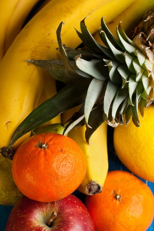 Top view on fresh various fruits Stock Photo - 12327752