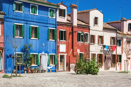 Colorful houses on Burano island, Venice, Italy photo