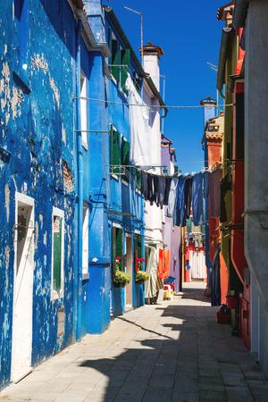 Colorful houses on Burano island, Venice, Italy photo