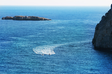 seaview: Seaview in sunny day, Rhodes, Greece