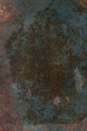 old metal: Dark Rusty metal iron abstract background texture. Dark blue