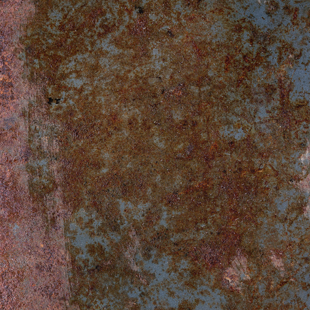 square image: Dark Rusty metal iron abstract background texture. Square image
