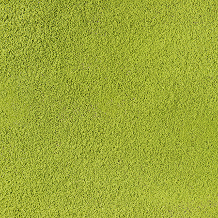 Green tea matcha powder abstract food and drink background. Square image Stock Photo