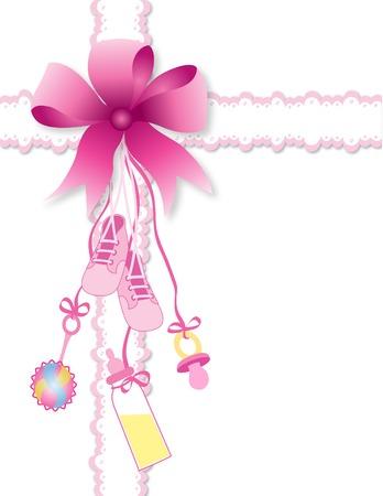 Baby Mädchen  Vektorgrafik