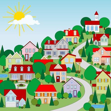 Casas Ilustración de vector