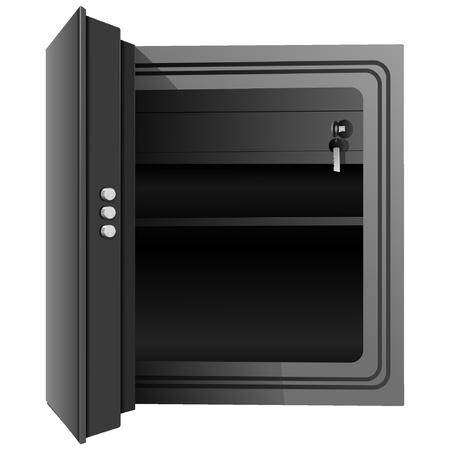 Open the safe. Vector Vector
