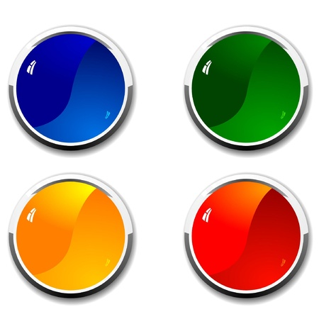 Vector set of colored buttons Stock Vector - 11598041
