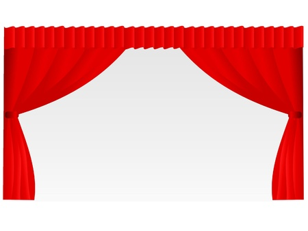 Theater curtain  Stock Vector - 11661825