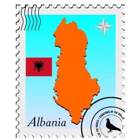 albanie: apposer les cartes d'image de l'Albanie