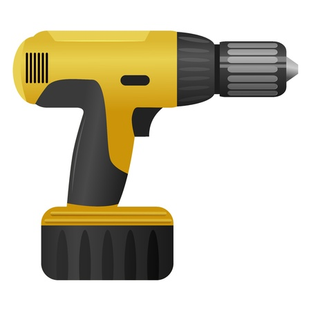 screwdrivers: illustration of a drill Illustration