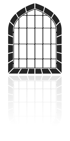 Window with bars  Vector