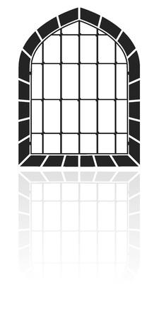 Window with bars Stock Vector - 11831321