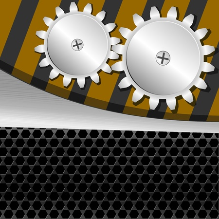 Vector illustration  of metal background with gears Stock Vector - 11831324