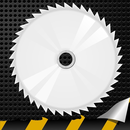 Vector illustration of abstract metal background with a circular saw Stock Vector - 11890950