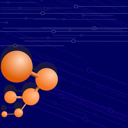 Vector  background with a molecule Vector