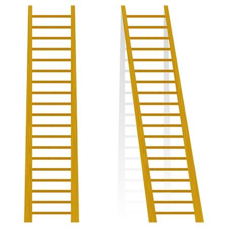 Vector Illustration einer Holztreppe