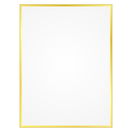 Sheet of paper with gilt edges Vector