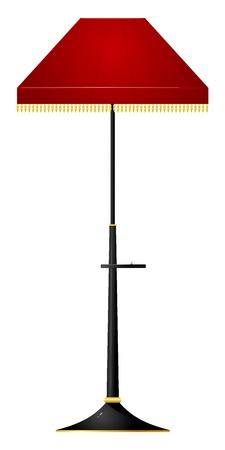 Ilustración vectorial de la lámpara de suelo rojo
