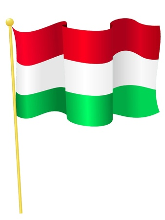 Vector image of the national flag of Hungary Vector